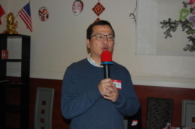 羅智強訪美第七站到演講賭城。(記者馮鳴台/攝影)