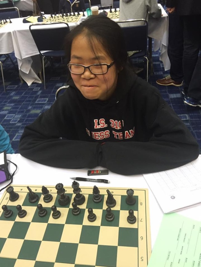董湘對象棋有濃厚的興趣及天份。(董湘提供)