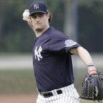 MLB/新投柯爾亮相練習 洋基球迷掌聲致意