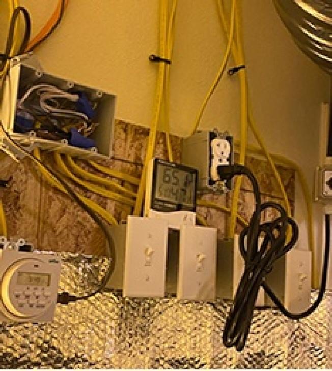 嫌犯偷竊電力證據。(河濱縣警局提供)