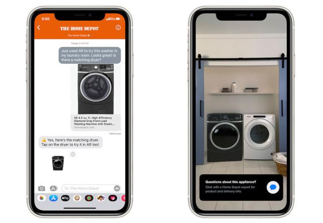 蘋果的Quick Look功能,主打AR體驗,現在更可以透過iPhone或iPad進行AR購物。(取材自TechCrunch)