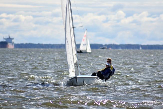 能文能武的張舒淇,還是商船學院帆船隊隊員之一。(張舒淇提供)