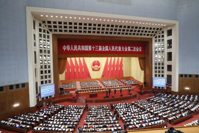 中國一年一度的全國人大、政協會議因新冠肺炎疫情而延期。圖為去年中國人大會議。(中新社檔案照)