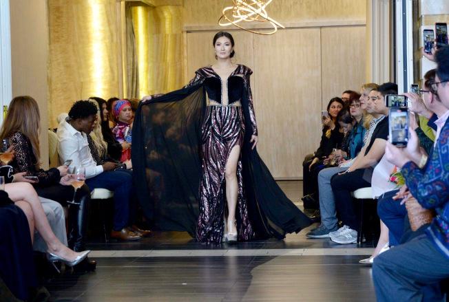 張燁晗在紐約時裝周上走秀。(張燁晗提供)