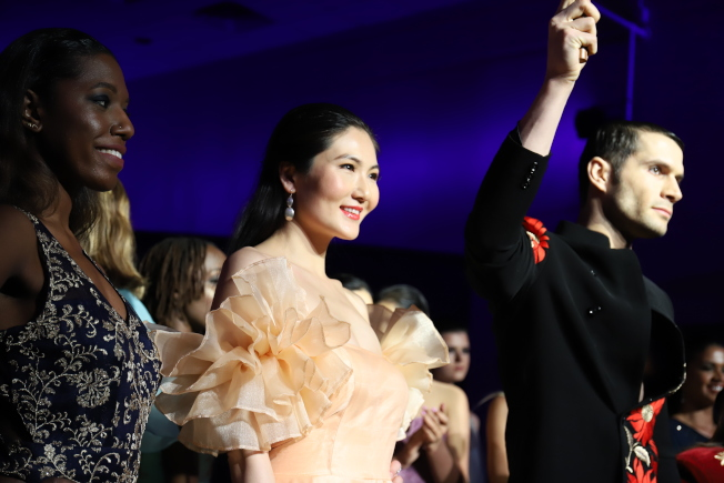 張燁晗出席本屆紐約時裝周Kirti Rathore秀場。(張燁晗提供)