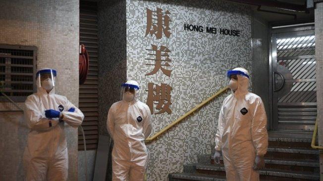 香港旅遊業受到新冠肺炎影響。中通社