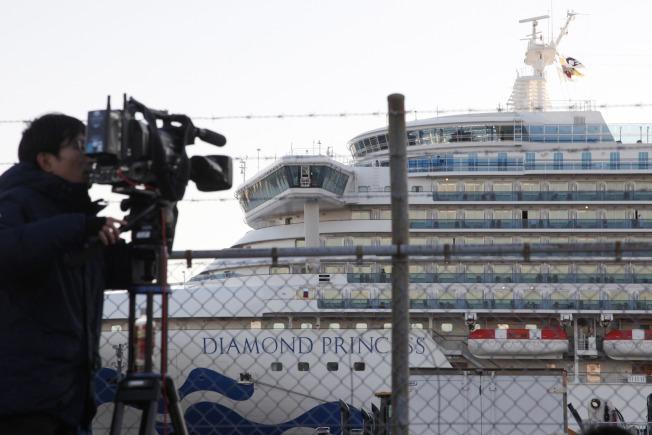鑽石公主號遊輪18日累計共542起新冠肺炎確診病例。美聯社