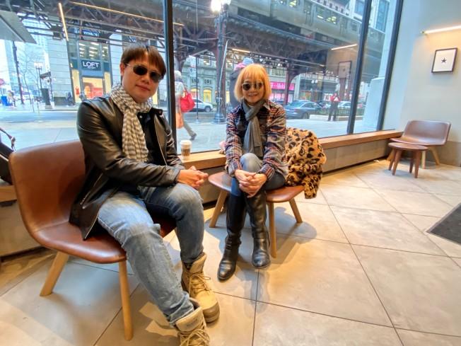 台灣導演賴孟傑(左)、亞洲躍動影展主辦人王曉菲(右)。(特派員黃惠玲/攝影)