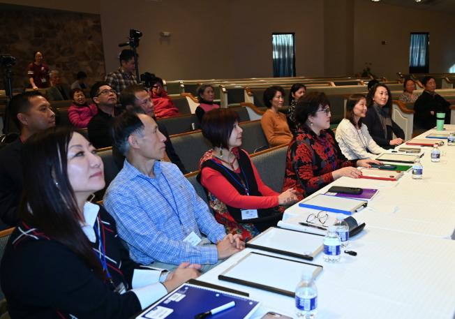 首屆南北卡達人秀復賽邀請了七位評委參加。(記者王政賢/攝影)