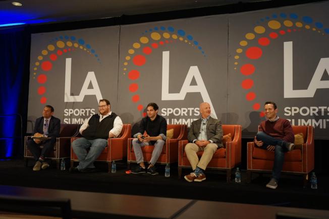 洛杉磯體育委員會日前舉行運動峰會,電競是重點探討項目之一。(記者陳開/攝影)