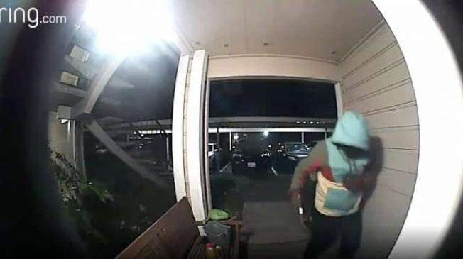 屋崙警局和Ring合作,取得竊賊下手偷竊的影片。(Ring提供)