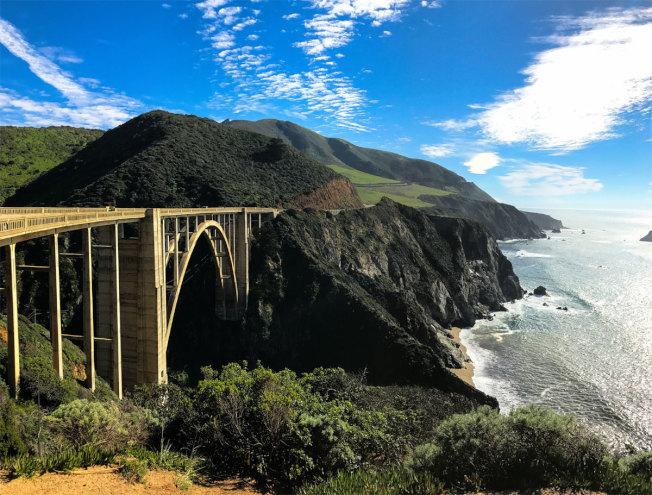大索爾(Big Sur)的大溪橋(Big Creek Bridge)。(Getty Images)