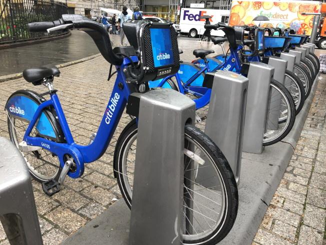 Citi Bike助力自行車於19日重新回歸,開放民眾使用。(記者顏嘉瑩/攝影)
