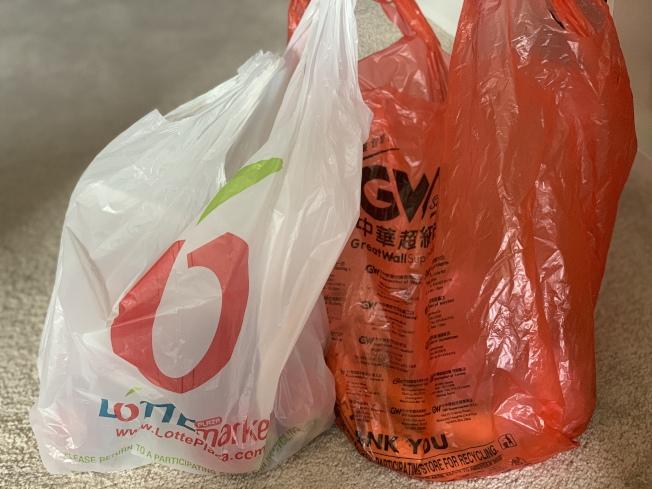 為保護環境、鼓勵人們自帶環保袋,馬州州議會提案禁止商家提供塑料袋。(記者羅曉媛/攝影)