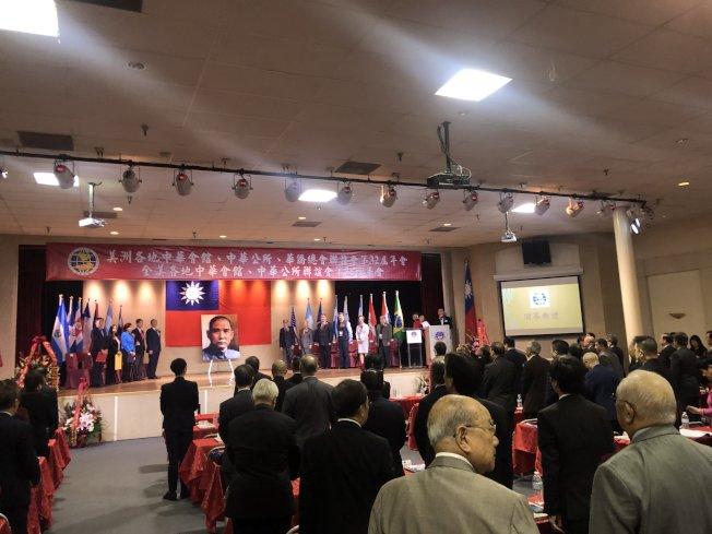 泛美傳統僑社年會19日開幕。(記者王若然/攝影)