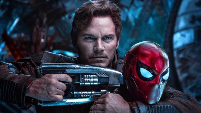 湯姆荷蘭與克里斯普瑞特在「復仇者聯盟3」中就曾合作過。(圖:迪士尼提供)
