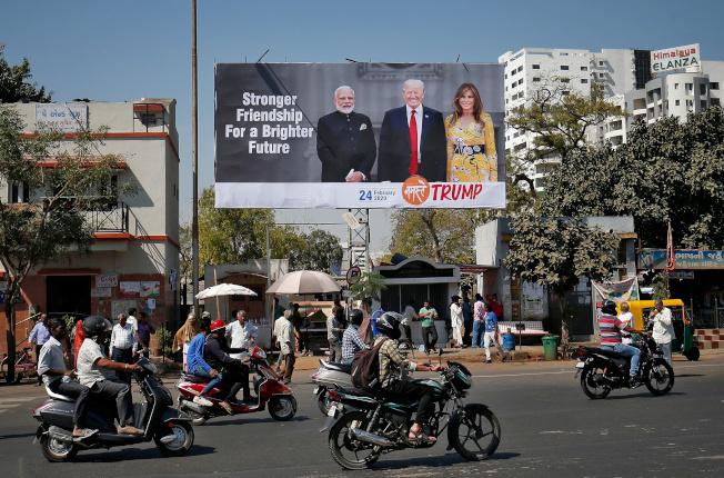 川普將於24、25日將訪問印度。(路透)
