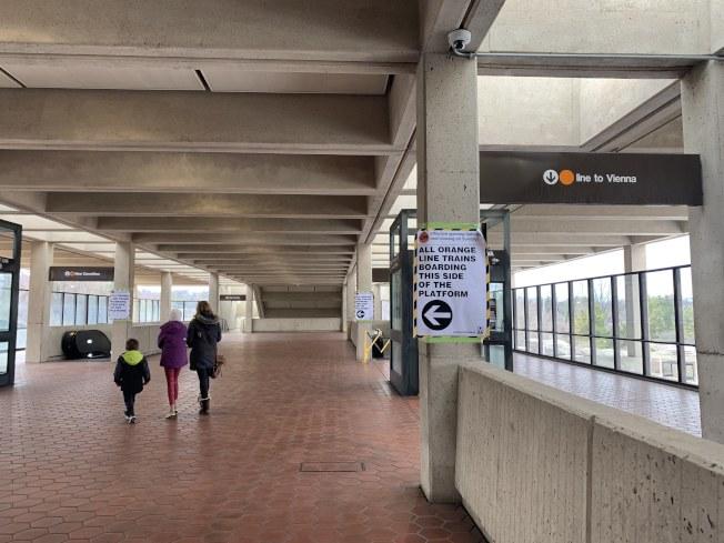 Vienna地鐵站將從國殤日的周末開始關閉維修,直到勞工節。(記者羅曉媛/攝影)