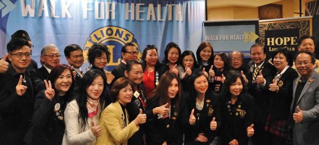 聖蓋博華人市議員廖欽和( Chin Ho Liao)、聖蓋博希望獅子會,聯合洛杉磯十多家獅子會,2月29日舉辦「走出健康」的戶外健行活動。(主辦方提供)