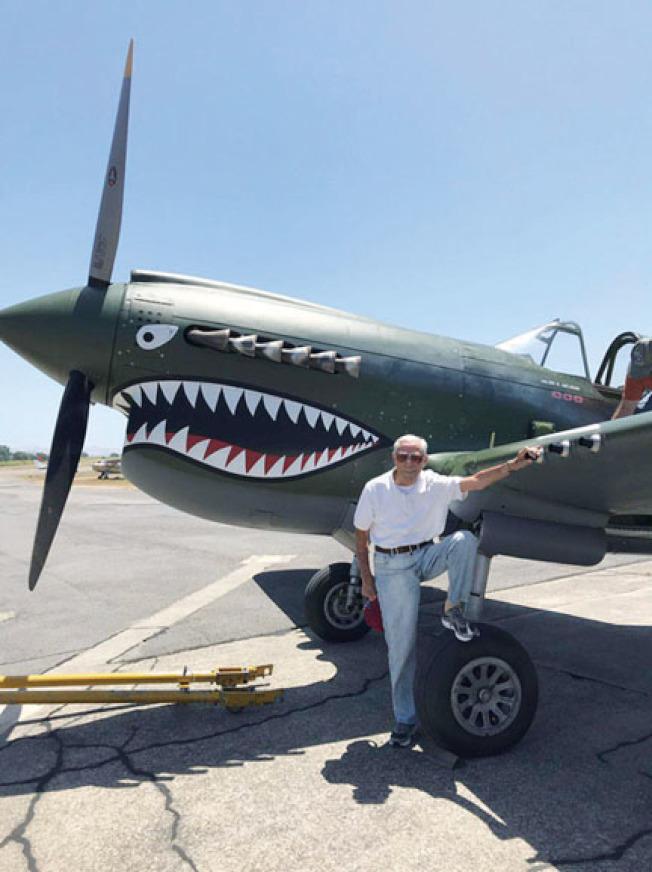 圖為99歲的飛虎隊老兵莫耶(Harry Moyer)。(美中航空遺產基金會供圖)