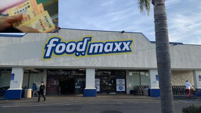 東灣聖利安住(San Leandro)這家「Food Maxx」,售出700萬元的勁球彩票。(Getty Images)