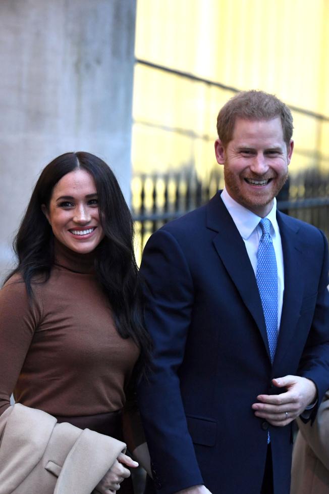 梅根與哈利再過一個多月就要正式脫離英國皇室重要成員的身分。圖/路透資料照片