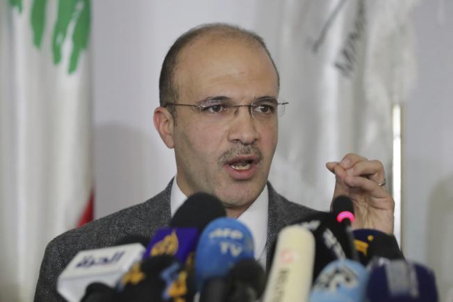 黎巴嫩衛生部長哈山(Hamad Hassan,圖)表示,境內今天出現首起新冠肺炎確診病例。美聯社