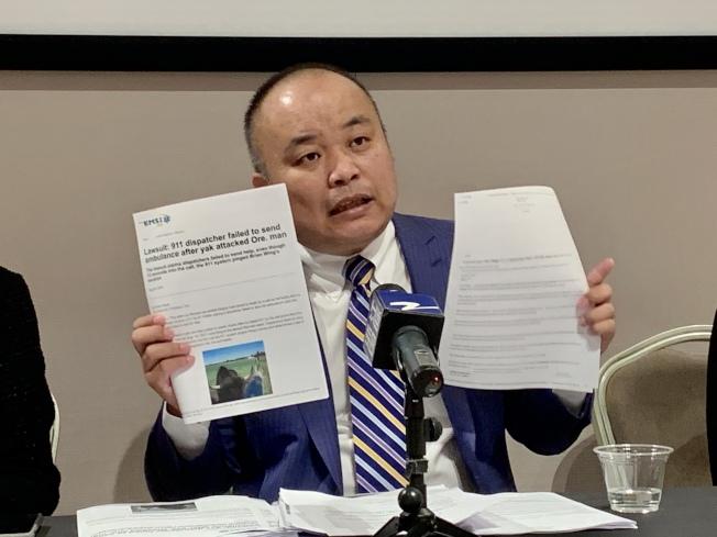 劉龍珠認為此案911有「誤導」嫌疑。(記者張宏/攝影)