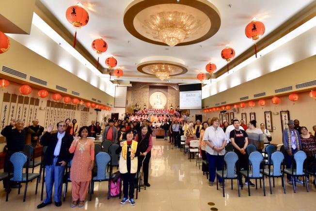 奧蘭多佛光合唱團新春音樂會現場一景。(圖:奚瑞克提供)