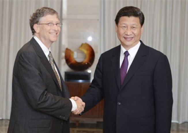 習近平給美國微軟創辦人比爾蓋茲回信。新華社