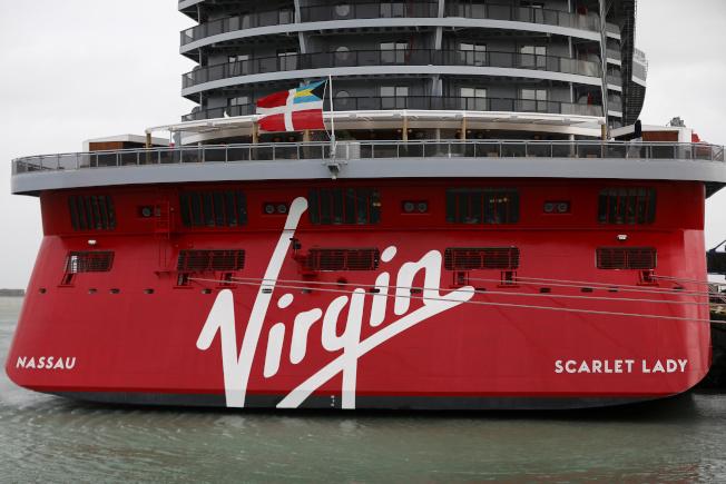 維珍郵輪公司首艘郵輪「紅女郎號」。(路透)