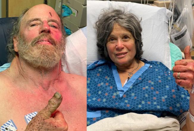 在北灣野外失蹤一周的巴洛阿圖夫婦,22日被人發現,奇蹟生還。(Getty Images)