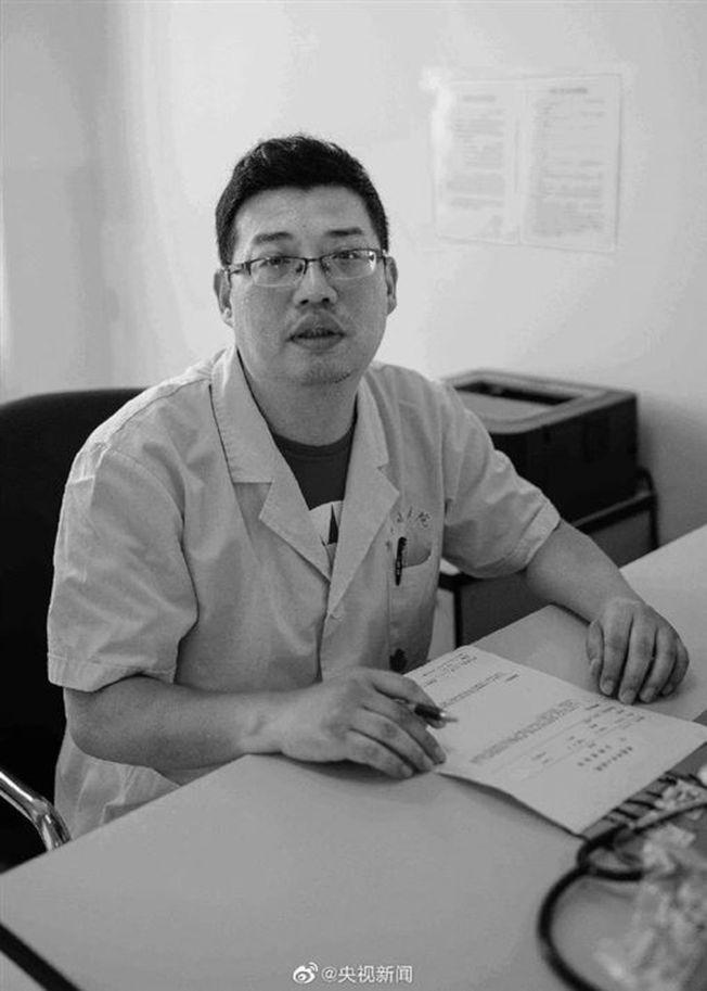 孝感市中心醫院呼吸內科副主任醫師黃文軍。(取材自央視)