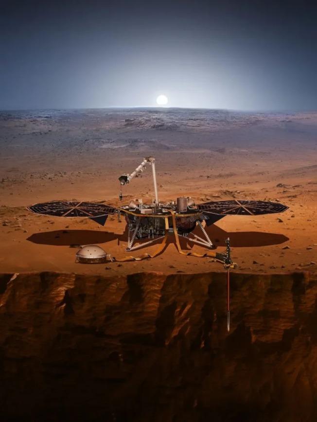 洞察號火星任務示意圖。 美聯社