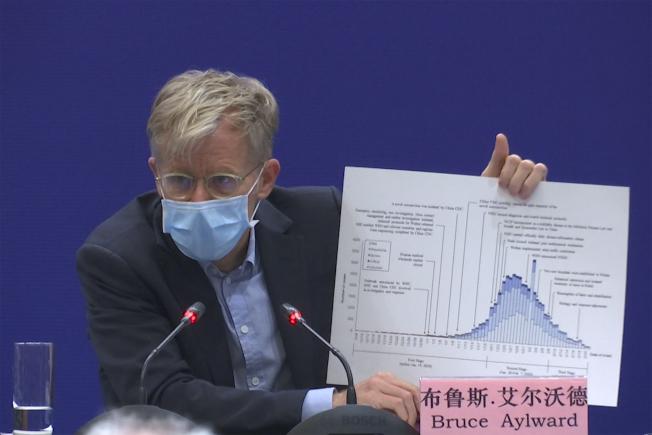 世衛組織的助理秘書長、加拿大公衛專家艾爾沃德24日在北京記者會上稱中國疫情正在下降。(美聯社)