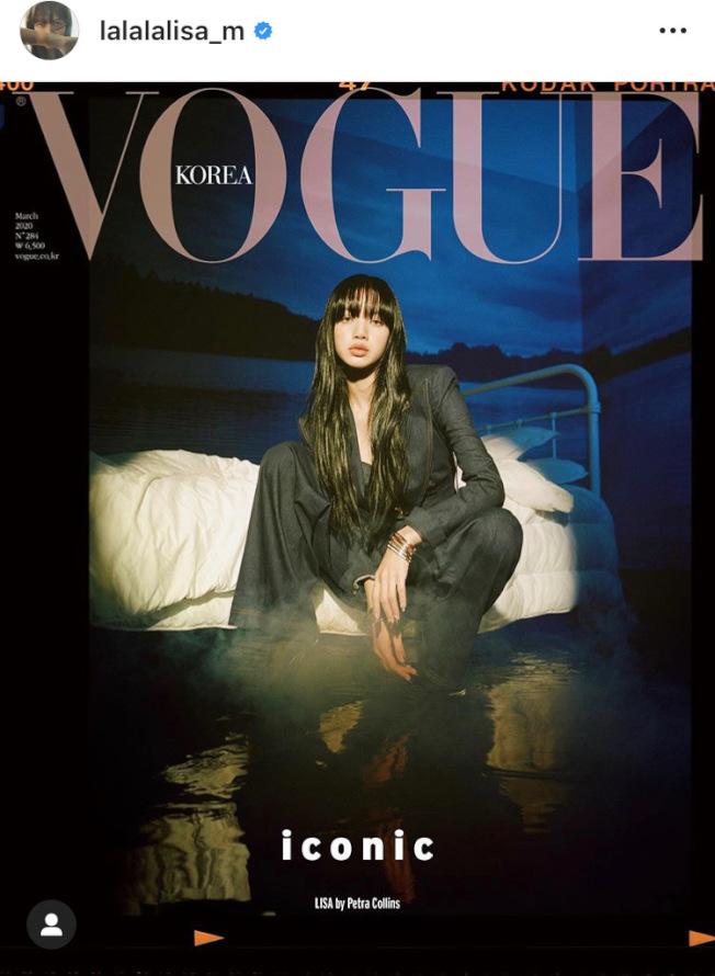 Lisa配戴寶格麗最新B.zero1 Rock系列珠寶登上韓國時尚雜誌封面。圖/取自IG @lalalalisa_m