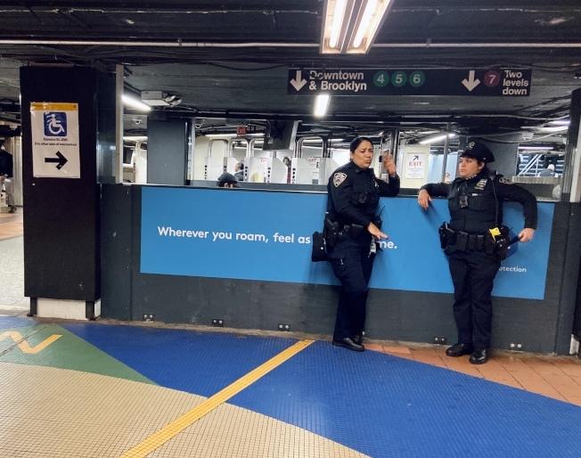 紐約地鐵犯罪率在今年1月急升。(記者鄭怡嫣/攝影)