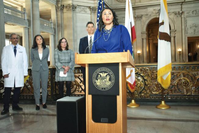 市長布里德強調舊金山需要為新冠肺炎疫情可能在社區傳播做好應急預案。(記者黃少華/攝影)