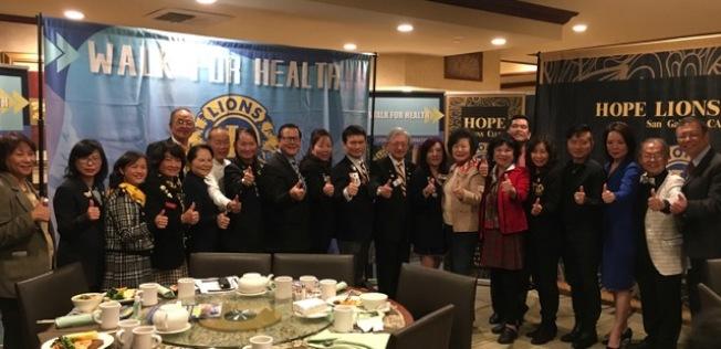 國際獅子會聯合南加州十多個華人獅子會、慈濟及全僑社團、華人企業、商家將在本周舉辦大型健行活動,為武漢、中國和世界加油。(記者楊青/攝影)