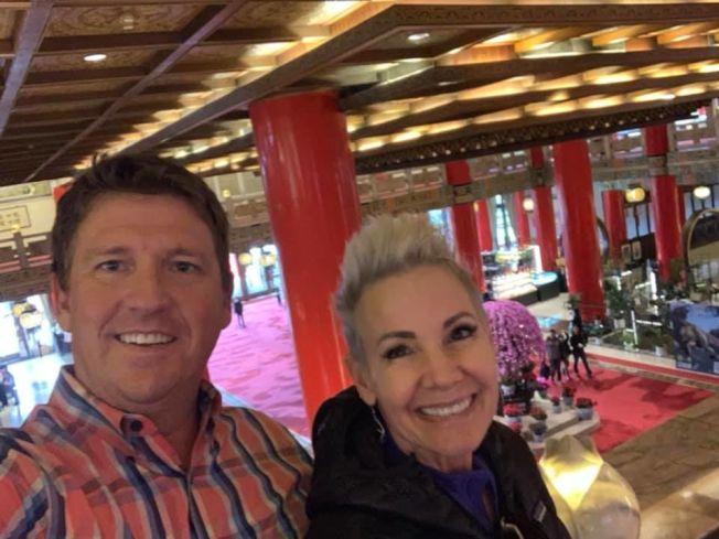 夫妻兩人還去了台北市圓山大飯店。(喬金森妻子傑里臉書)