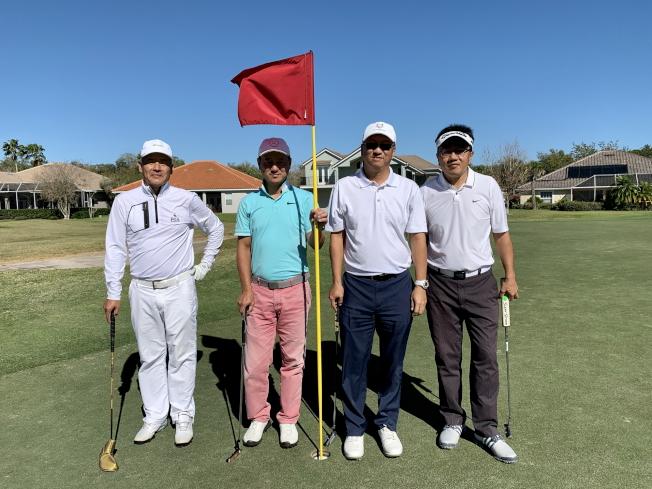 各組參加球賽的男子組選手。(徐美嬋提供)