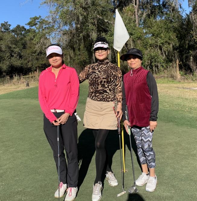 女子組參加球賽的選手。(徐美嬋提供)