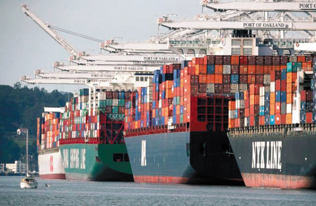 北加最大的貨運碼頭屋崙港,中國貨運開始受疫情影響。(Getty Images)