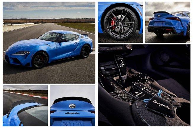 A91 Edition限量版,車尾具備專屬碳纖維擾流尾翼/後視鏡外蓋、消光黑色輪框。(Toyota)