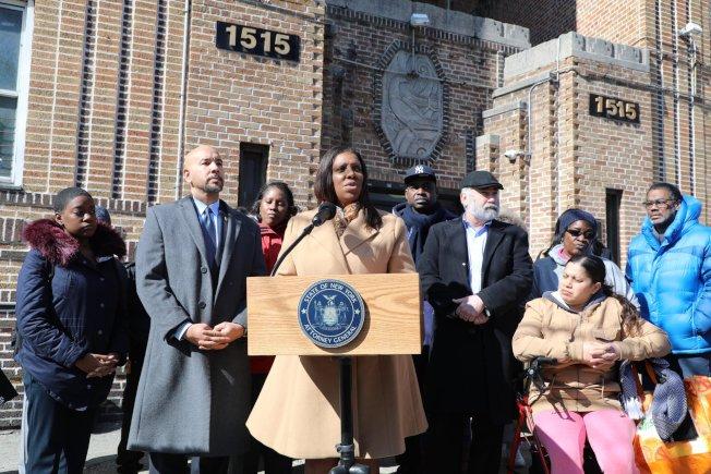 詹樂霞提告紐約物業管理公司違反防治鉛害法規,罔顧居民健康。(詹樂霞辦公室提供)