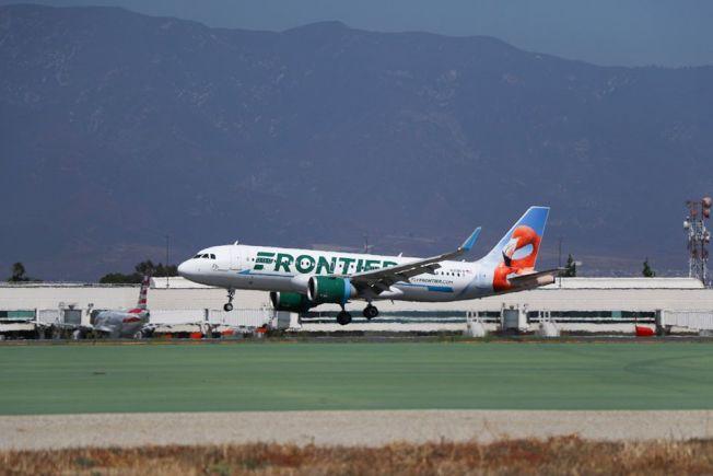 廉航邊疆航空宣布開通安大略至西雅圖直飛航線,每周三班。(自Frontier Airlines )