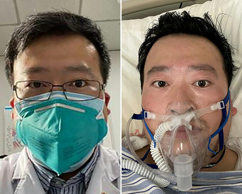 武漢眼科醫師李文亮因新冠肺炎過世,他是肺炎疫情第一個吹哨者。Getty Images