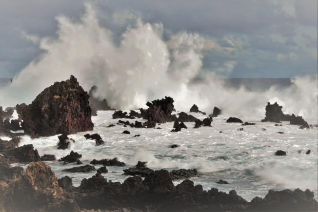 南太平洋的巨浪。(圖:作者提供)