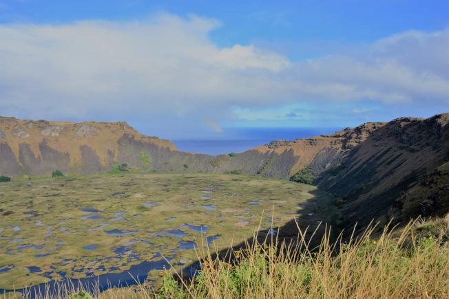 火山口湖。(圖:作者提供)