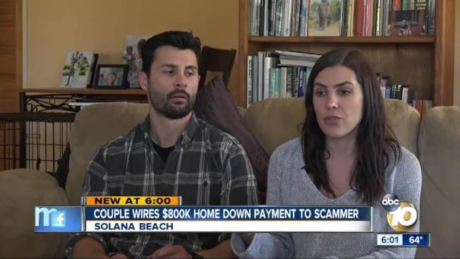 諾亞夫婦以為實現了美國夢幾天後,發覺被駭客騙去買房的近80萬元。(KGTV電視台截圖)